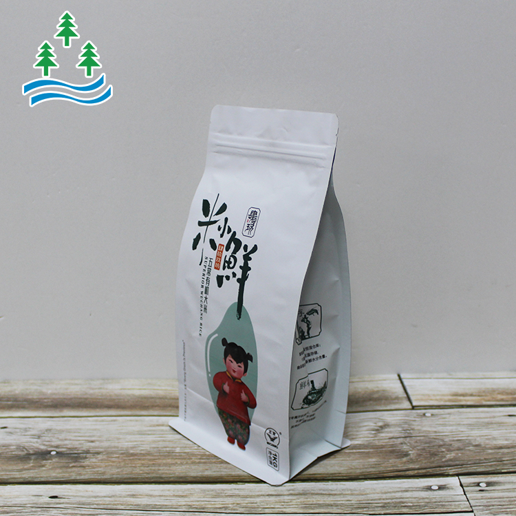 Bag For Pancake Packaging Rice Factory Promotional Packing Plastic Customized Doypack Flat Bottom Pouch