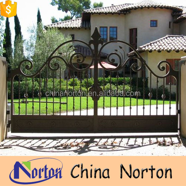 Driveway Gate Designs Sliding Gate Design Modern wrought iron doors NT-WID006