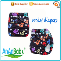organic cotton printed soft useable sleepy baby cloth diaper