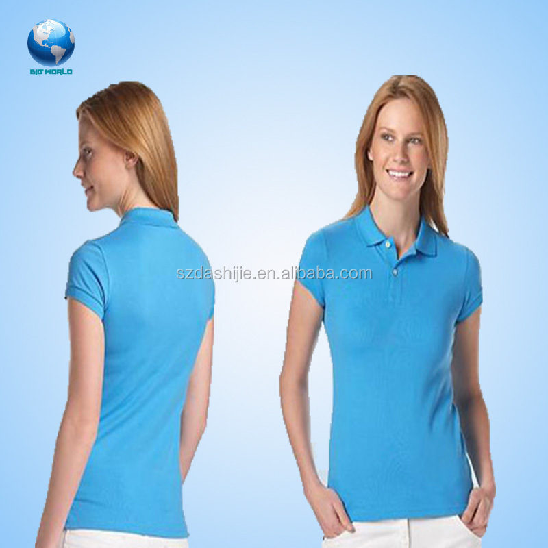 Cool women customized cotton silk printing embroidery polo shirt/Cheap hot sale cotton polo shirt