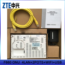 Stock ZTE F660 GEPON WIFI ONU 4 Ethernet ports FTTH GPON ONT