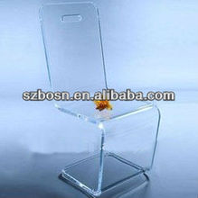 Z shaped acrylic dining chair