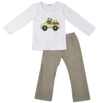 New arrival car embroidery cotton boy shirt wholesale children's boutique clothing
