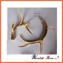 Big sale gold rhino horn resin indoor home christmas decorations craft made in china