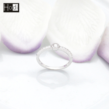 Beautiful High Quality Bezel Setting 925 Italian Silver Ring, AAA Cubic Zirconia 925 Silver Ring Designs for Girl