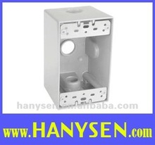 One Gang Aluminum Weatherproof Junction Box or Outlet Box
