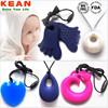 BPA free factory direct sale silicone teething pendant for baby and adults/silicone pendant teething wholesale