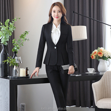 2017 new style women best seller black tailored office lady business suit
