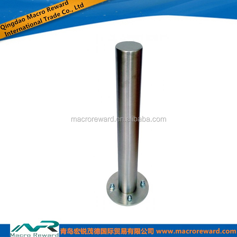 Stainless Steel Tube Not Automatic Bollard/bollard suppliers With Circular Base Plate Bollard