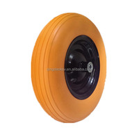 Factory manufacture 16 inch 4.80/4.00-8 PU foam Air pneumatic rubber wheel