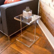 clear acrylic furniture, acrylic perspex side table