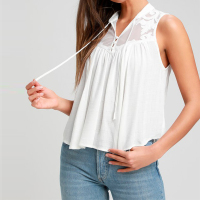 Light Gauzy Linen Sleeveless Blouse