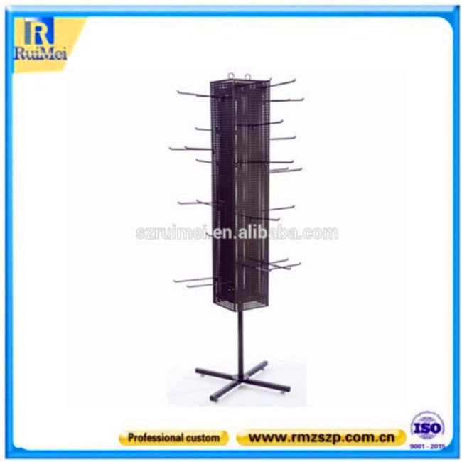 Metal material surpetmarket display stand pegboard dispaly stand