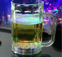 Mugs Drinkware Type and PS Material Plastic led flashing mug for bar&party, 480ml(17 ounce), water activated LED mug