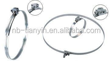 worm drive quick release hose clamp