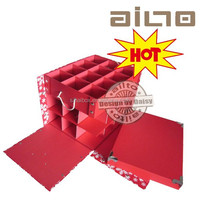flat pack manufacturer luxury cardboard Chirstmas storage gift box