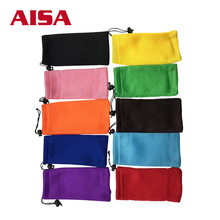 Free sample colored mesh sunglasses pouch design sports glasses bags