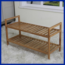 New design wooden frame top quality shoes rack for sale