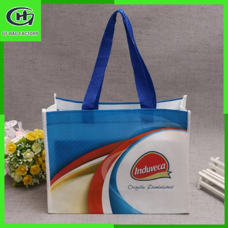 Recycled eco-green non woven shopping bag