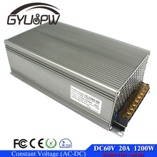 Universal 60V 20A 1200W Switch Power Supply Driver Switching For LED Strip Light Display 110V 220V AC-DC SMPS