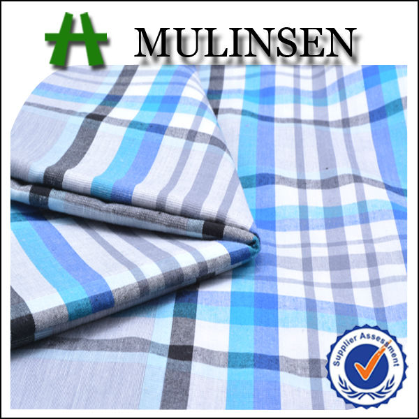 2014 Hot Sell Woven 40s Cotton Yarn Dyed Check and Stripe Fabric for Shirting