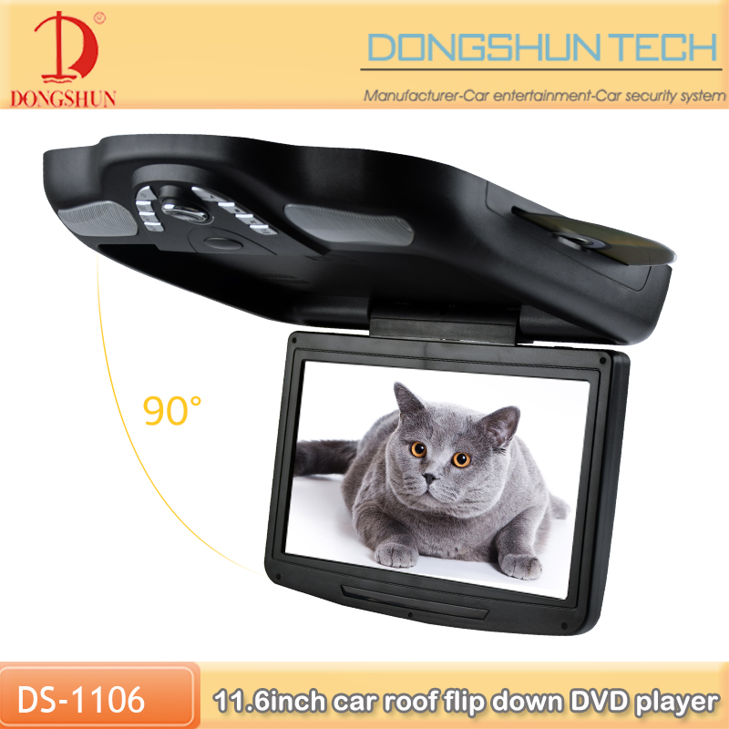 Slot-in type 11.6 Inch Flip Down DVD Player With USB port and SD card slot
