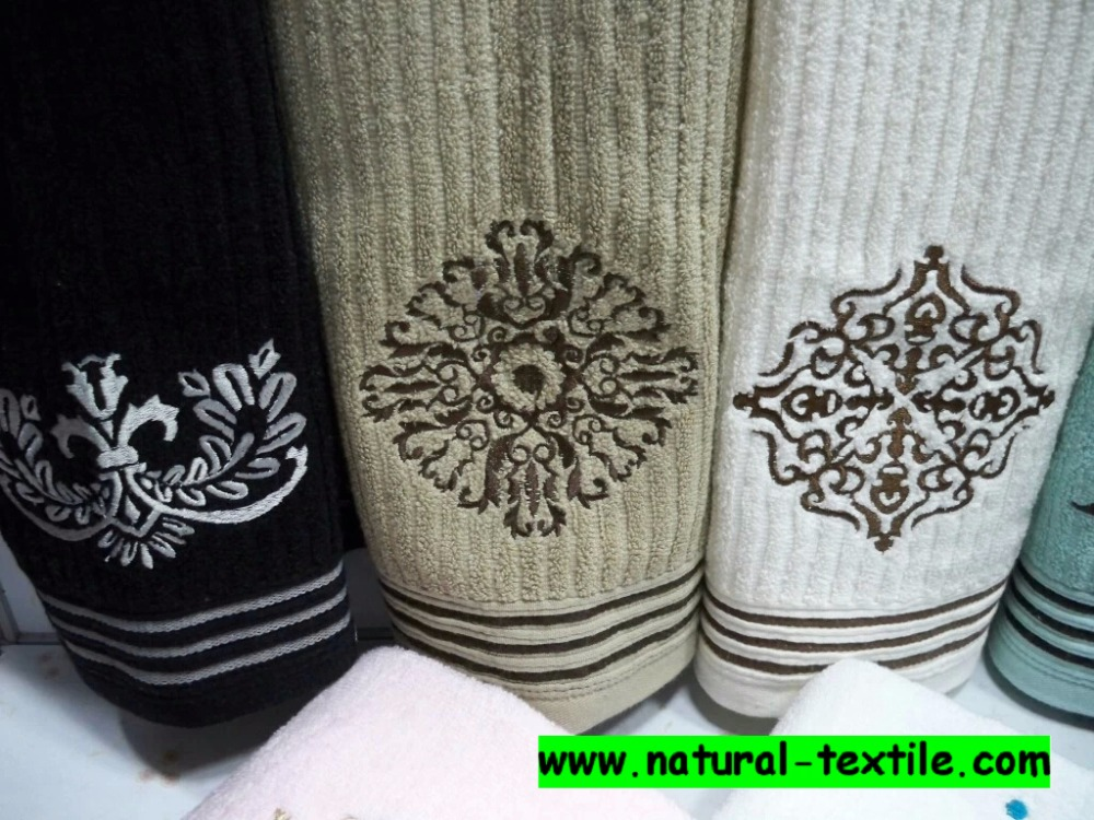 100% cotton embroidered hand towel,face towel and bath towel for home use