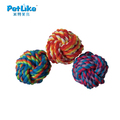 Wholesale dog cat puppy braid twisted teeth chew cotton rope knot ball toy