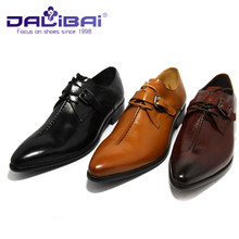 Cow Leather Material Black Dress Men Shoes With Three Color
