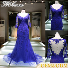 2017 wholesale new fashion most popular plus size custom women's lace applique evening wedding dress for bridal