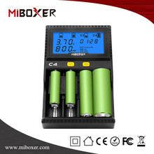 Miboxer C4 4 Slots Battery Charger Smart,Standard Battery charger for 18650,26650