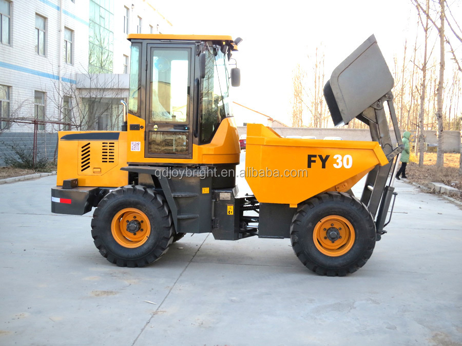 3ton self-loading dumper with 1.5cbm bucket cabin 50hp diesel engine