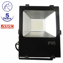 basketball court lighting mean well driver Ra80 PF>0.95 100lm/w IP65 50w LED flood light waterproof