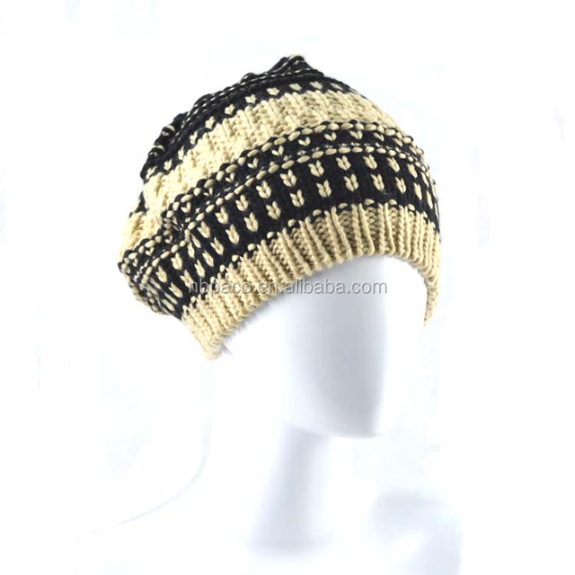 Wholesale winter women knitting hat knitted beanie