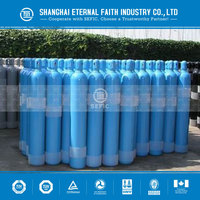 Export To Europa/South America Empty High Pressure Nitrogen Argon Gas Bottle 40L Industrial Oxygen Cylinder
