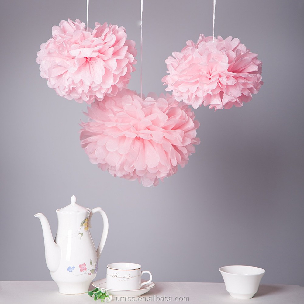 Pom Poms Paper Flower Decoration For Weddingbaby Showerchristmas
