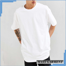 OEM White Blank Longline Loose XXXL Oversized Men Basic T Shirt
