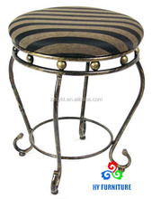 Round fabric upholstered changing room stools dressing room vanity stools