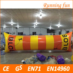 Amazing outdoor colorful 0.9mm PVC inflatable jumping air bag for adults