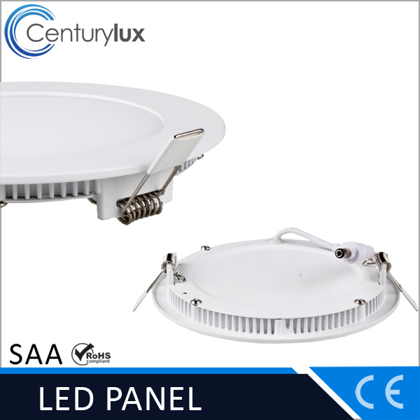 small round 160mm cut out ultra-thin led recessed ceiling panel light 12w