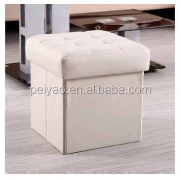 Wholesale PU Leather Folded Ottomans Foot Stool