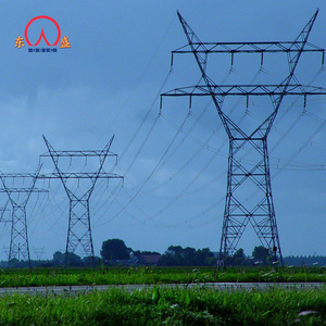 iso9001 certificate square lattice steel 330kv transmission line guyed tower 138kv