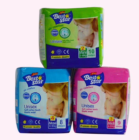 Guangzhou Hot Sale Beststar Low Price Breathable Disposable Baby Diaper
