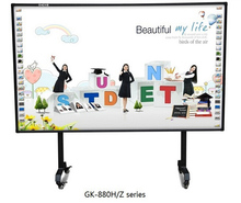 Aluminum frame magnetic ceramic glass surface whiteboard white board buy interactive whiteboards