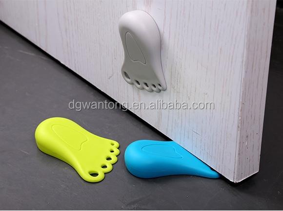 Cute foot shape silicone rubber door stopper buy rubber door stopper silicone door stop door - Cute door stoppers ...