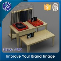 Metal good-looking professional clothing store display stands/ revolving garment rack