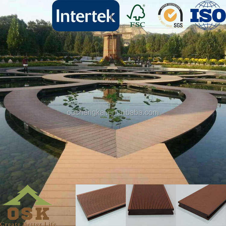 Solid teak wood flooring for swimming pool outside