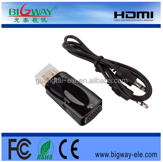 Mini HDMI to VGA converter China factory