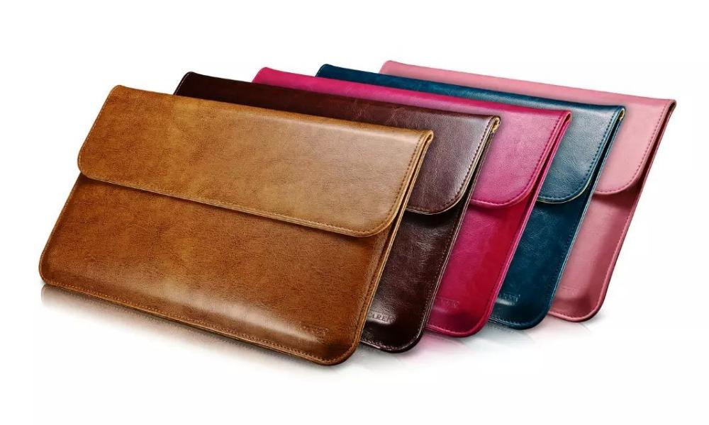 Get Quotations · New Super Thin Men Women Business Retro Laptop Briefcase  Style Solid Vintage Leather Laptop Case a887a75f93