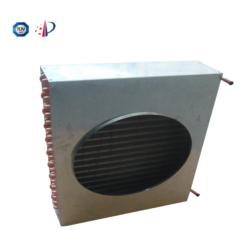 air cooled copper tube refrigeration condenser